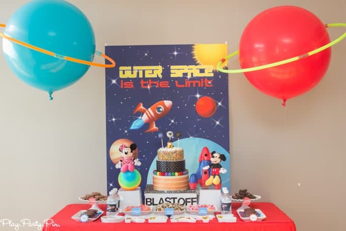Outer space party decorations diy balloon planets