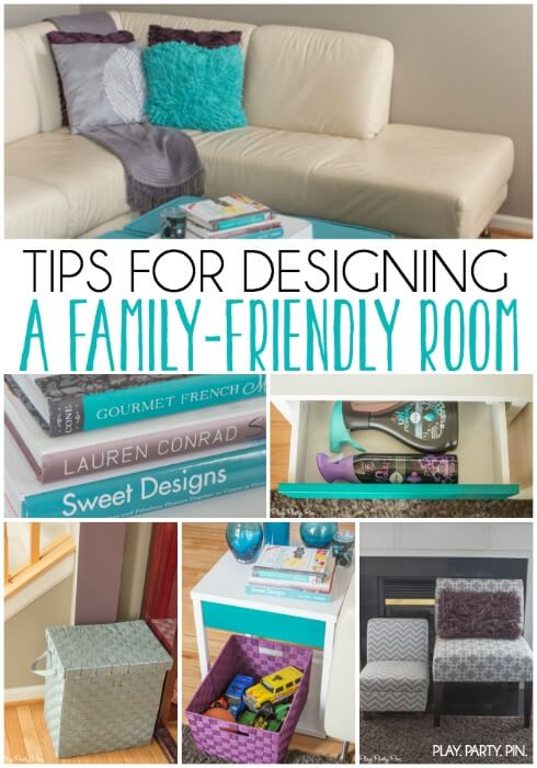 Tips For Styling A Family Friendly Living Room