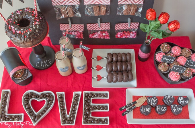 chalkboard chocolate valentines day party ideas also known as a chalklate chalk - Valentines Party Ideas For Adults