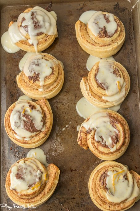 Orange chocolate sweet rolls
