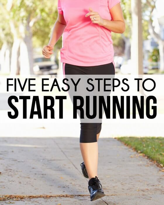 Five easy steps to start running even for people who have never run before! Great beginning runner ideas from www.playpartyplan.com