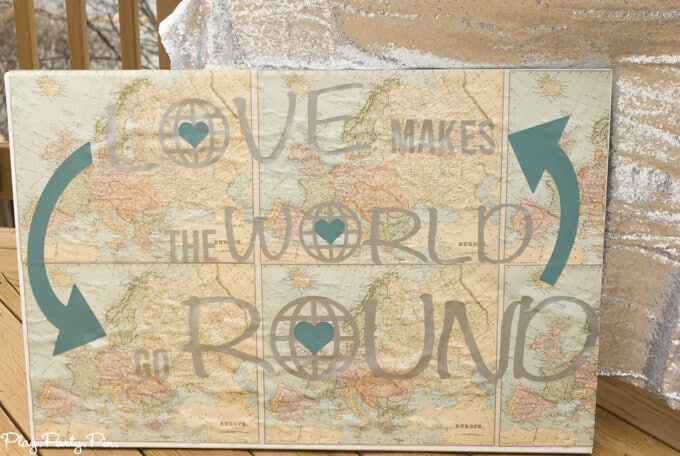 DIY love makes the world go round project
