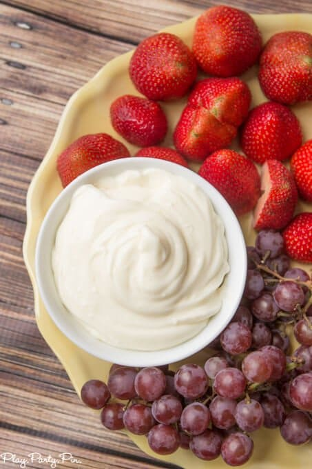 A yummy and simple orange fruit dip that's perfect with all kinds of fresh fruit