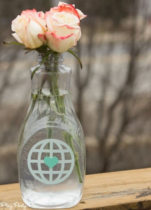 This love makes the world go round theme is perfect for a baby shower or a bridal shower, use round foods + world/travel items and you're all set for a shower everyone will love!