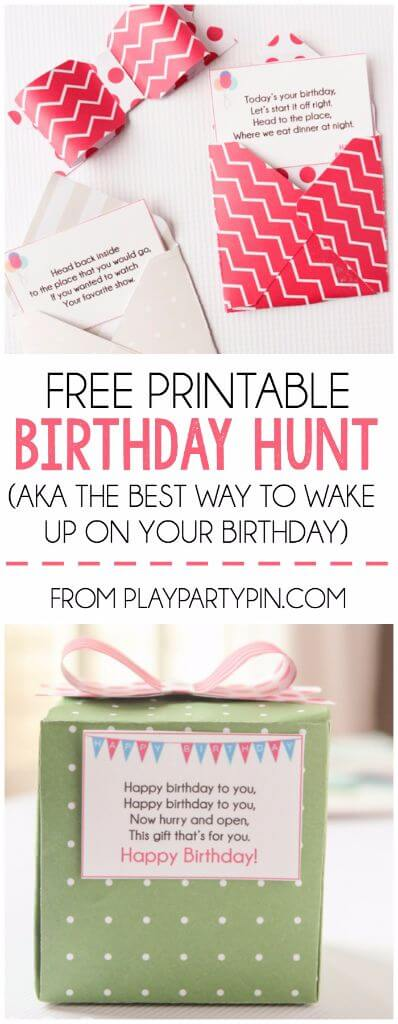 This Birthday Scavenger Hunt Sounds Like Such A Fun Way To Wake Someone Up On Their