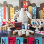 All sorts of fantastic Big Hero 6 party ideas including the easiest Baymax cupcake cake, awesome Fredzilla monster bars, and honey lemon cookies! Love everything about this Big Hero 6 movie night from www.playpartyplan.com.