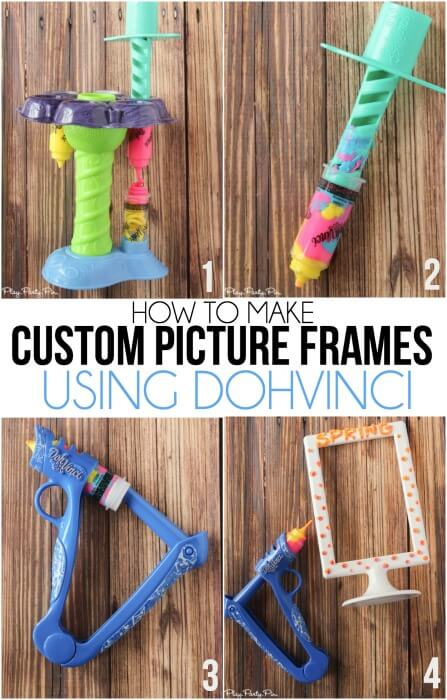 Custom picture frames made with DohVinci are so easy kids can make them!