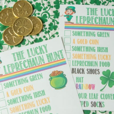 The Lucky Leprechaun Scavenger Hunt Ideas