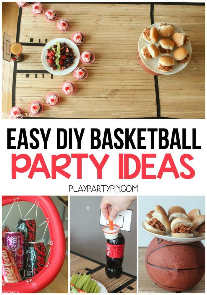 Diy basketball party ideas for Basketball craft party ideas