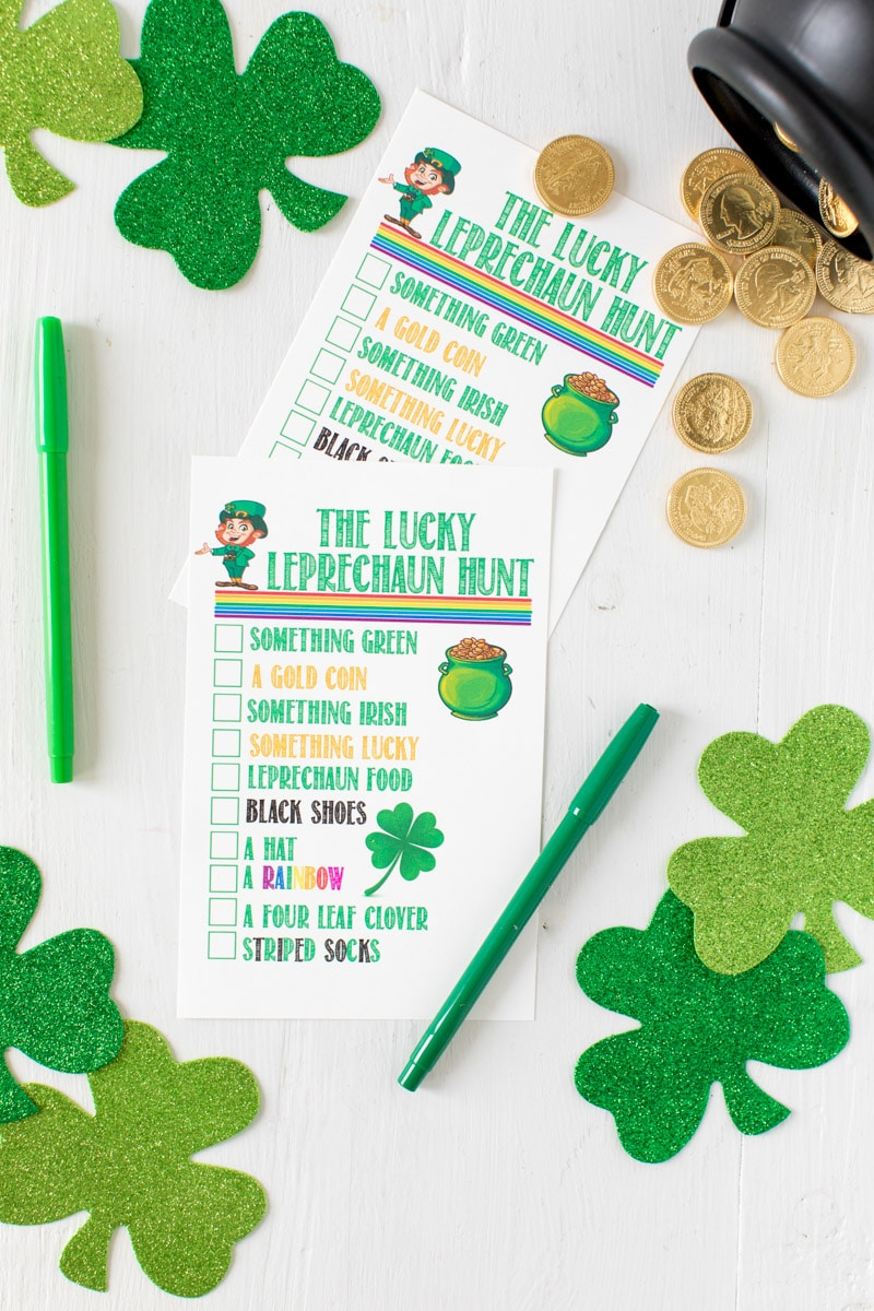 Fun printable lucky leprechaun games for kids
