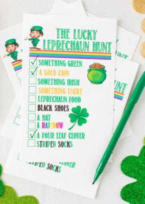 Filled out leprechaun games for St. Patrick's Day