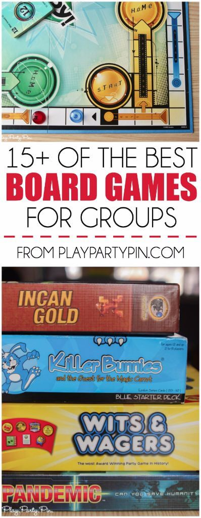 15 of the best board games for groups of all sizes including board games for 2 players, board games for lots of players, and more. Lots of great game ideas including ones I've never heard of but sound awesome!
