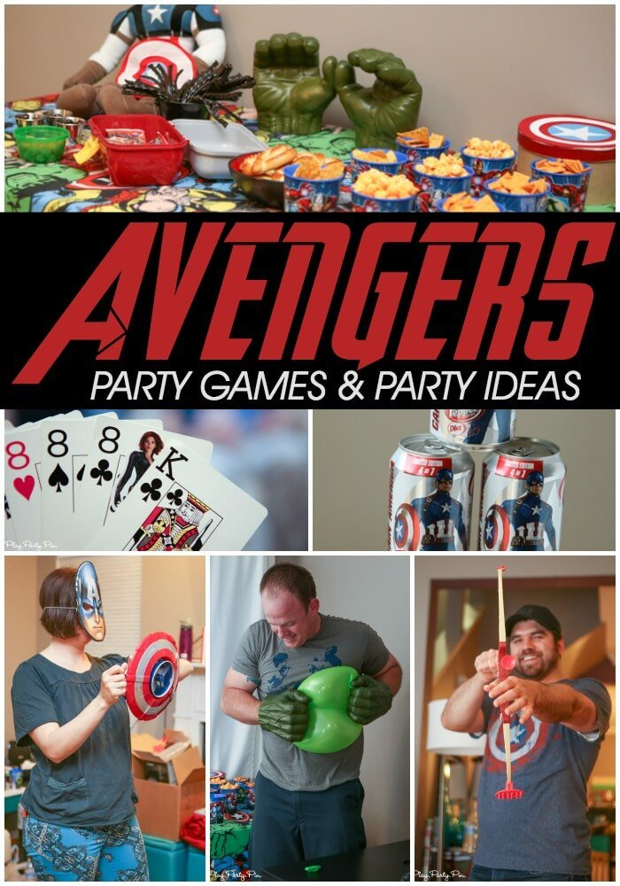 Love these Avengers party games and ideas especially Black Widow BS and the Hulk Balloon  sc 1 st  Play Party Plan : avengers table and chair set - pezcame.com