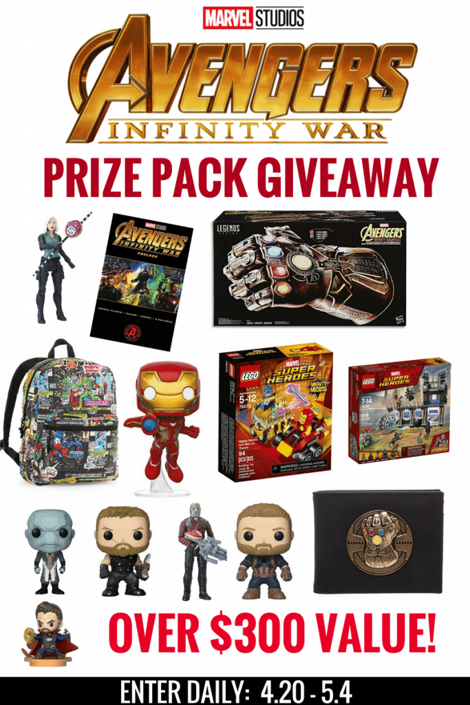 Avengers Infinity War Prize Pack Includes