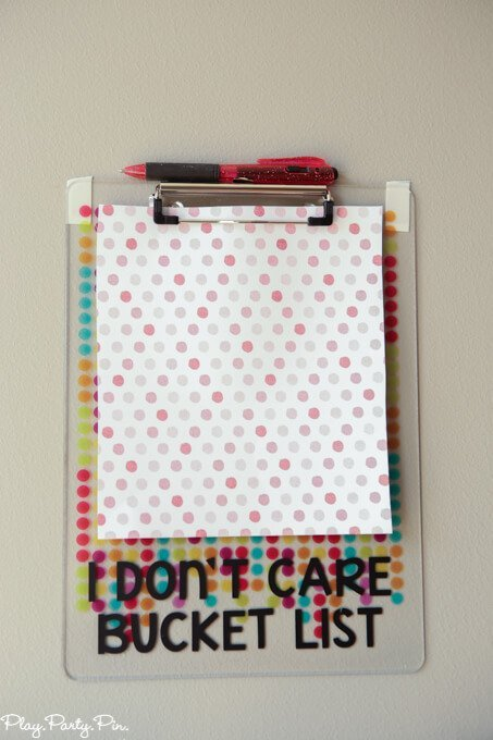 I love this I don't care bucket list idea, next time someone says I don't care or I don't know, pick something out of the bucket