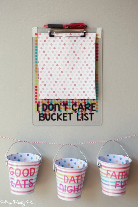 This I don't care bucket list idea is awesome! Next time someone says I don't care or I don't know, go pick something out of the bucket and do it.