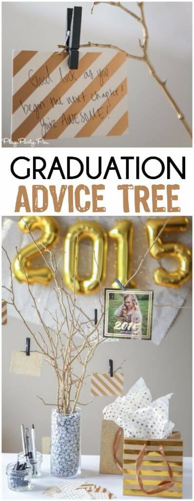 Graduation Party Ideas Graduation Advice Tree