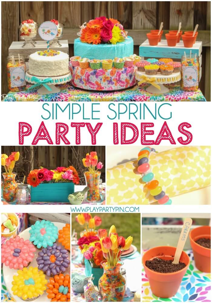 love this its a spring thing party with tons of spring dessert ideas spring party - Spring Party Decorating Ideas