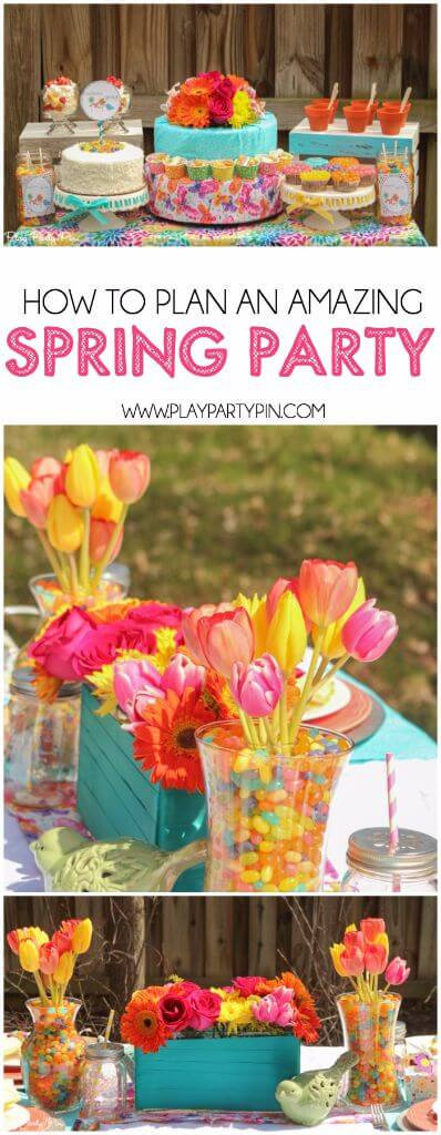 Tips to plan the most amazing spring party, love all of the these gorgeous spring party ideas!