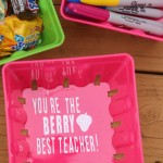Love this berry best teacher appreciation gift idea, add a little vinyl and fill it with your teacher's favorite gift!
