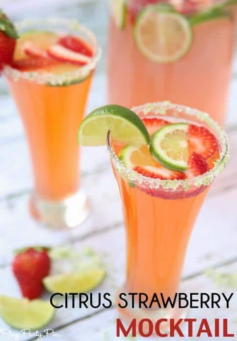 a refreshingly delicious strawberry citrus mocktail recipe