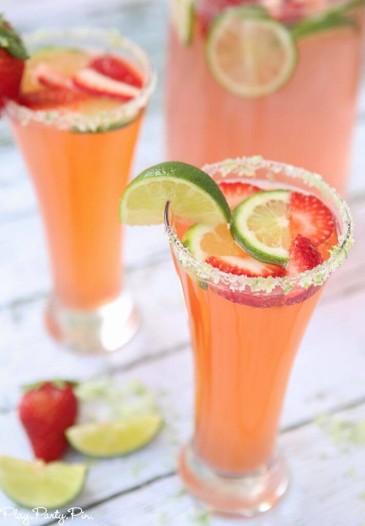 Citrus strawberry mocktail recipe for Summer drinks for party