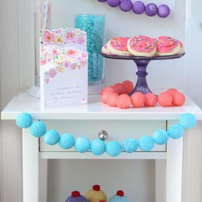 DIY Party Decorations: Foam Ball Garlands