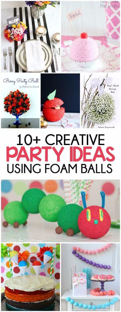 Who knew you could use foam balls in so many ways? Love all of these easy party decorations and party ideas using foam balls.