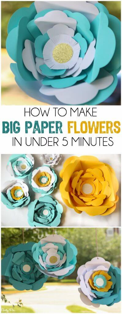 How to make big paper flowers in under 5 minutes ive always wanted to know how to make those big paper flowers love mightylinksfo Gallery