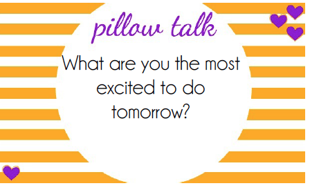 These free printable pillow talk cards are such a fun way to make every night kind of like a date night, spend a few minutes asking these funny questions about your day to end the day on a positive note!