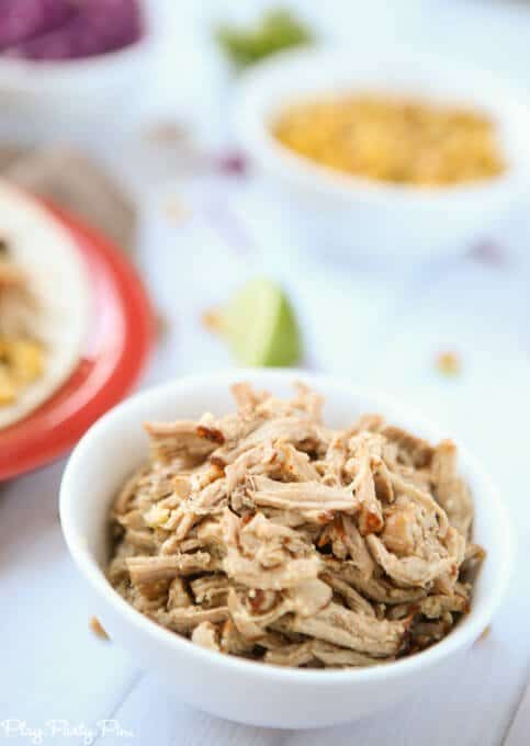 Simple crockpot pulled pork recipe that's perfect for pork tacos