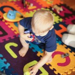 Fun games for toddlers to help them learn their letters. I've gotta get one of those foam letter mats now!