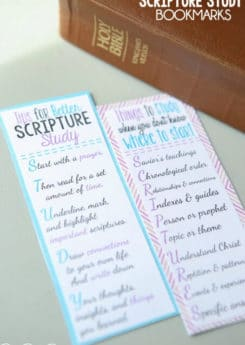 Love these free printable scripture study bookmarks and the great tips for better scripture study! These are perfect LDS young women handouts or even just LDS youth handouts!