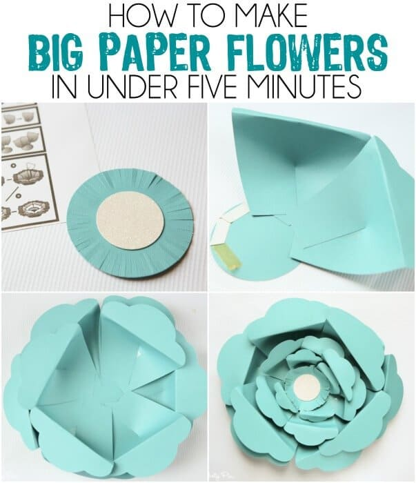 I've always wanted to know how to make those big paper flowers, love this idea and the especially the color blocked paper flowers!