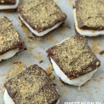 One of the best s'more recipes, love the idea of the chocolate covered Triscuits and a hint of sea salt to make these sweet n' salty s'mores