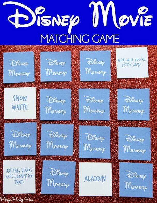 image about Printable Match Game titled Free of charge Printable Disney Matching Activity