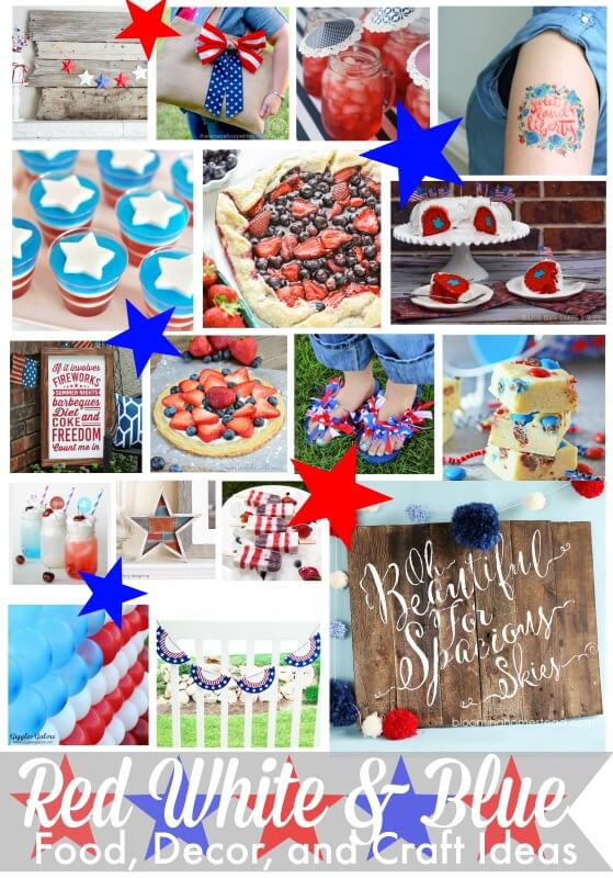 Tons of great red, white, and blue project ideas!!