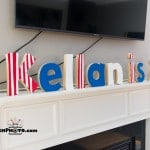 Love the idea of using painted wood letters as a birthday party decoration and bonus, you can use them in their room after the party is over!