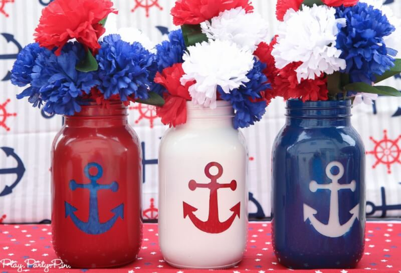 A nautical party is perfect for 4th of July! Use these nautical party ideas and 4th of July party ideas to throw the best red, white, and blue party ever!