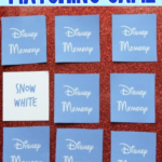 Disney matching game printable that has you trying to guess Disney characters and quotes