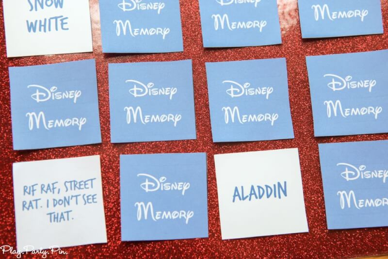 Free printable Disney matching game, so much fun for Disney lovers! Love playing this Disney memory game with my friends and my kids.