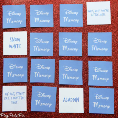 Free Disney Matching Game Printable