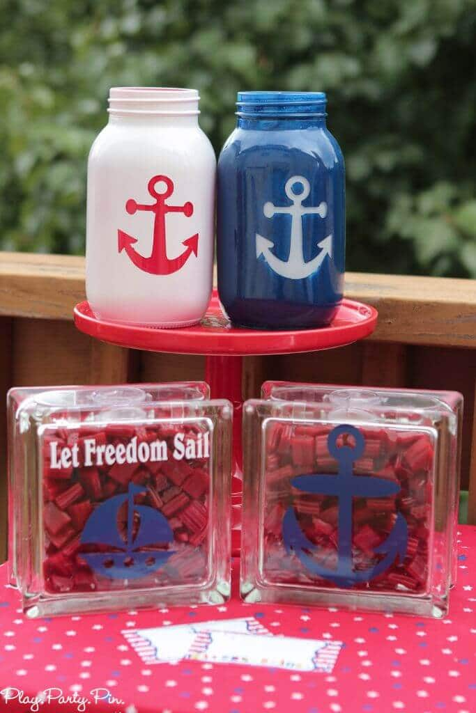 Nautical party games and 4th of July party ideas, tons of party ideas on this site!