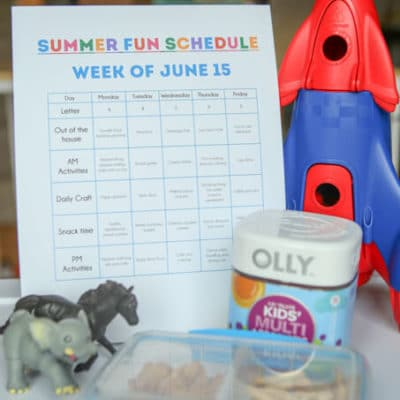 Letter Activity Ideas and Our Summer Schedule