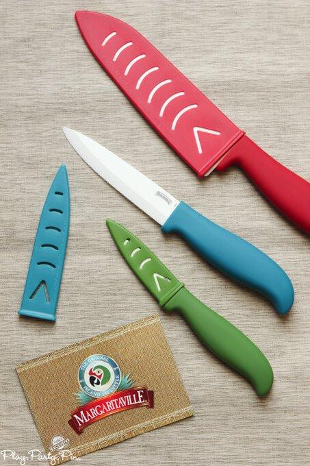HSN Margaritaville ceramic knives