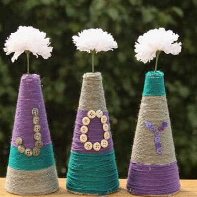 Easy Color Block Vases from Foam