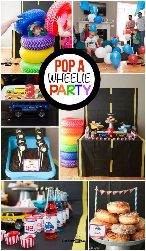 This Pop A Wheelie Party Is One Of The Cutest Boy Birthday Themes