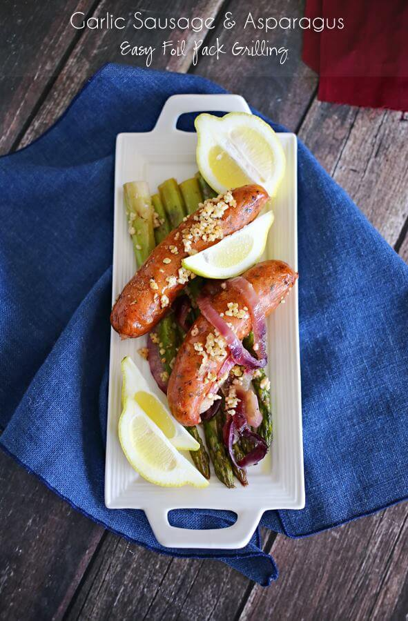 Garlic Sausage Asparagus from Kleinworth & Co.