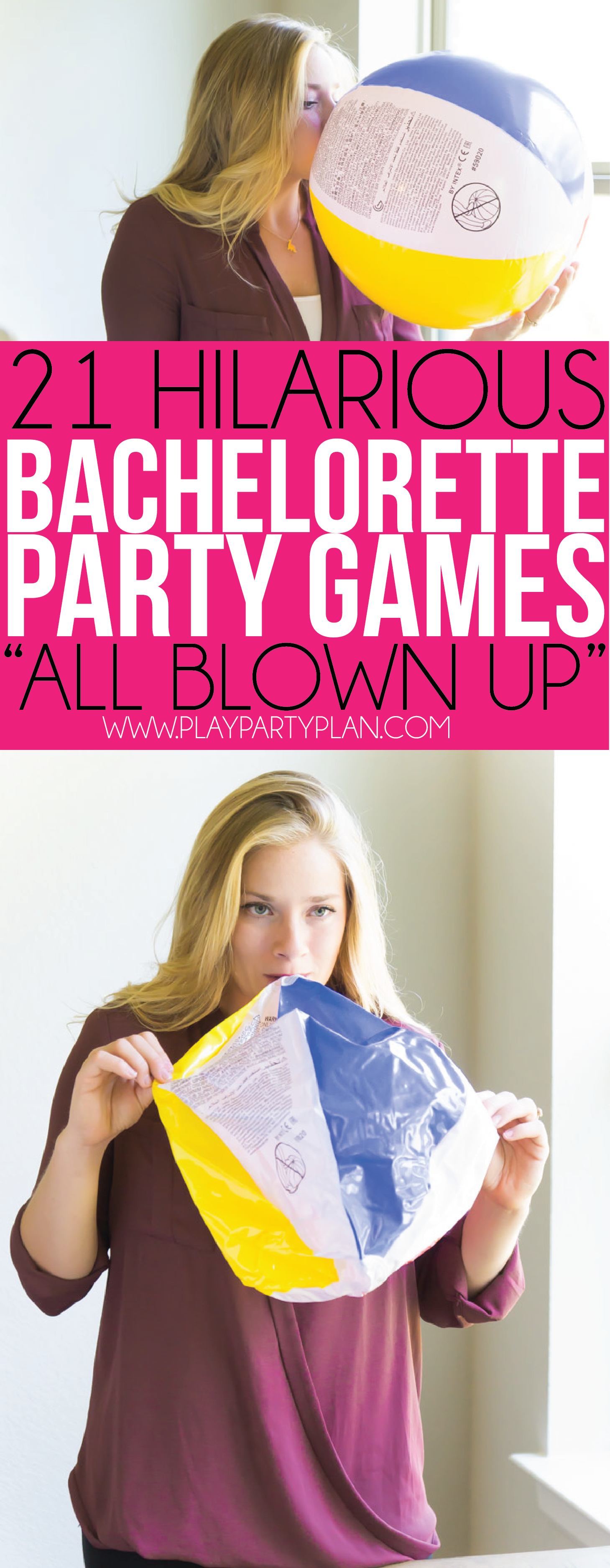 This all blown up game is one of the silliest bachelorette party games