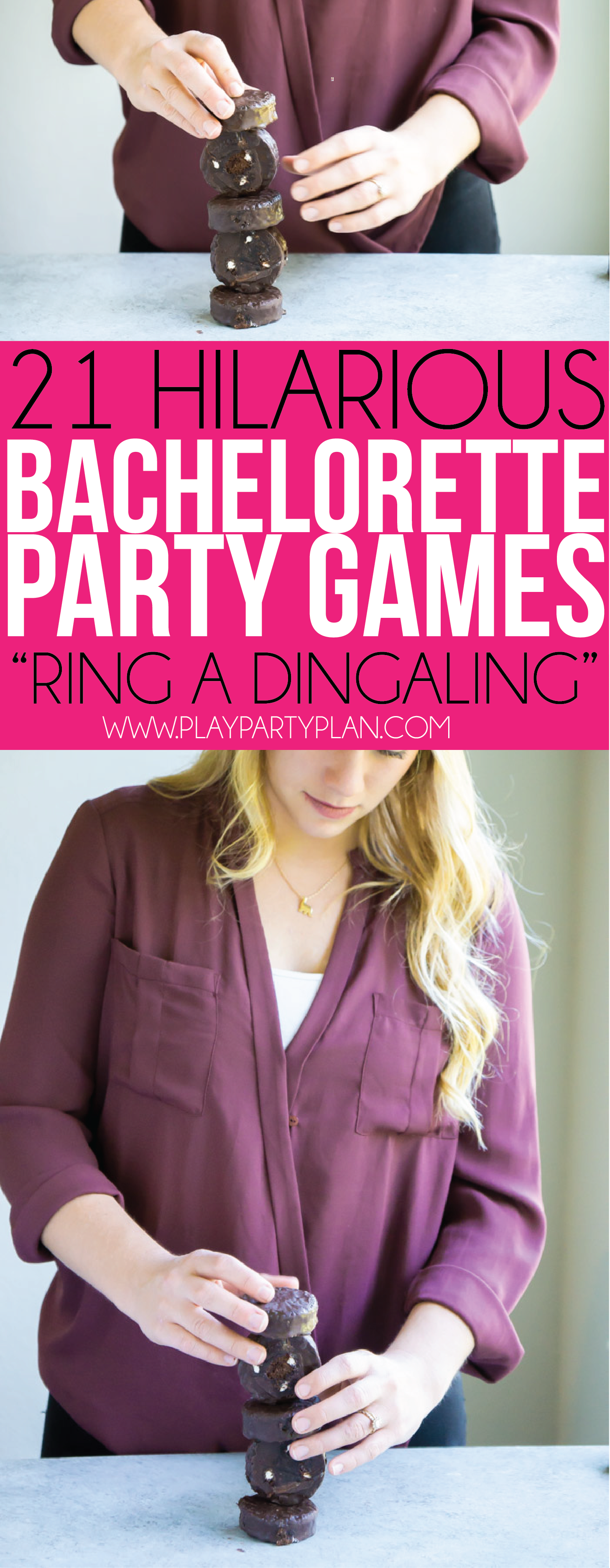 Yummy ding dongs start in these fun bachelorette party games